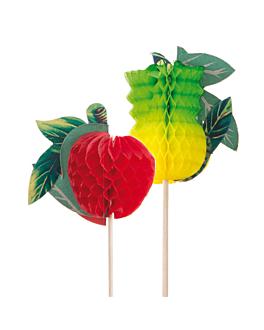"""adornos helados """"frutas"""" 20 (h) cm surtido madera (100 unid.)"""