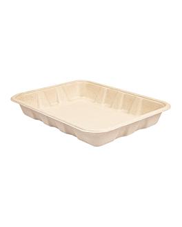 trays 'bionic' 600 ml 22x16x3,5 cm natural bagasse (400 unit)