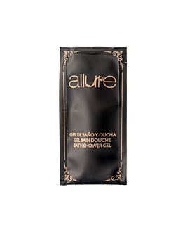 bustine gel bagno 'allure' 10 ml 10x5 cm nero pet (1000 unitÀ)