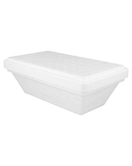 """boÎtes À glaces """"summerbox"""" + couvercles 1 l 24,4x14,2x8,7 cm blanc pse (96 unitÉ)"""