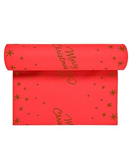 """""""tete-a-tete"""" (20 feuilles) 'merry christmas' 55 g/m2 0,40x24 m rouge dry tissue (6 unitÉ)"""