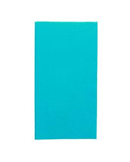serviettes pliage 1/8 55 g/m2 40x40 cm turquoise dry tissue (750 unitÉ)