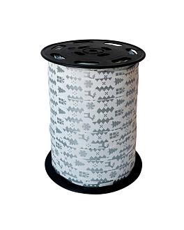 cinta 'laponie' 10 mm x 225 m plateado pp (1 unid.)