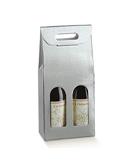 30 u. cajas 2 botellas 18x9x38,5 cm plateado cartÓn (1 unid.)