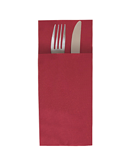kangaroo plus napkins 55 gsm 40x45 cm burgundy airlaid (720 unit)