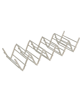 taco rack 4/5 19,7x6,4x3,8 cm silver stainless steel (1 unit)