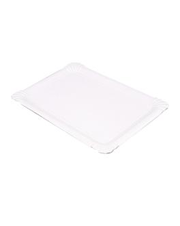plateaux pÂtisserie - moyens 30x21 cm blanc carton (125 unitÉ)
