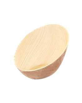 bowl oval curved 'areca' 110 ml 12x8,6x7,2 cm natural areca (200 unit)