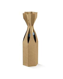 100 e. verpackung 1 flasche 9x33 cm natur kraft (1 einheit)