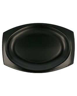 bandejas laminadas con pe 23x18 cm negro pse (500 unid.)