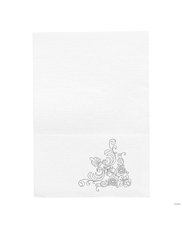 mini servis napkins ecolabel 1 ply 'tradition' 20 gsm 17x17 cm white cellulose (9600 unit)