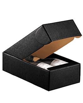 30 e. verpackungen 2 flaschen 34x18,5x9 cm schwarz karton (30 einheit)