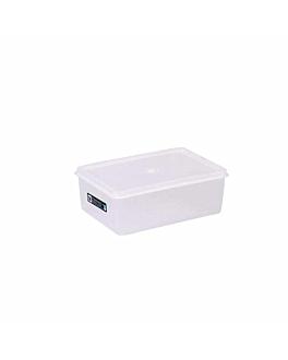 recipiente per alimenti + coperchio incluso 1000 ml 18x12,8x6,5 cm bianco pp (1 unitÀ)