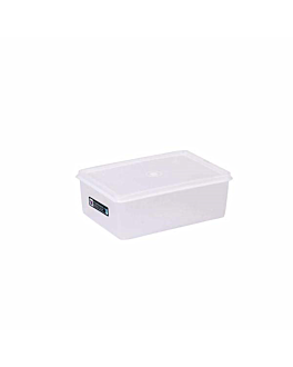 recipiente alimentos + tapa incorporada 1000 ml 18x12,8x6,5 cm blanco pp (1 unid.)