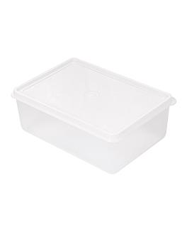 rÉcipient aliments + couvercle incorporÉ 1000 ml 18x12,8x6,5 cm blanc pp (1 unitÉ)