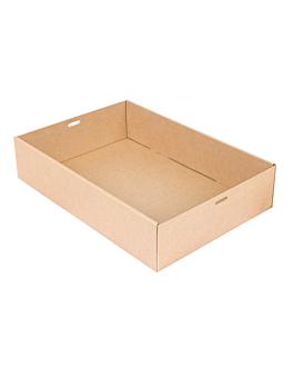 """scatole """"traiteur"""" m 375 g/m2 35,9x25,2x8 cm naturale kraft (100 unitÀ)"""