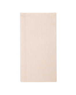 napkins 1/8 fold 'like linen' 70 gsm 40x40 cm cream spunlace (600 unit)