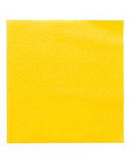 serviettes 55 g/m2 40x40 cm jaune soleil dry tissue (700 unitÉ)