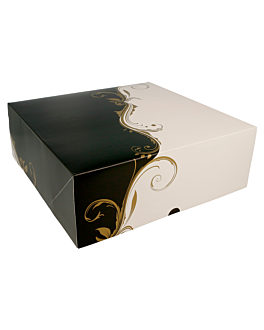cake boxes without window 300 gsm 28x28x10 cm white cardboard (50 unit)