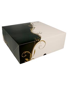 boÎtes patisseries sans fenÊtre 300 g/m2 28x28x10 cm blanc carton (50 unitÉ)