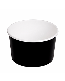salad bowls 480 ml 300 + 18 pe gsm Ø11,1/9,5x7 cm black cardboard (500 unit)