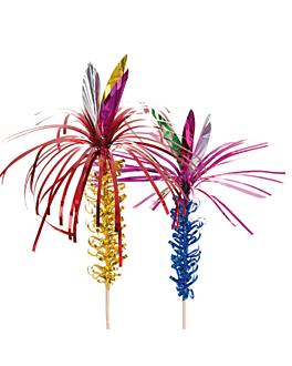 """50 decorazioni per gelati - """"palma foglio"""" 15 cm colori varie legno (1 unitÀ)"""