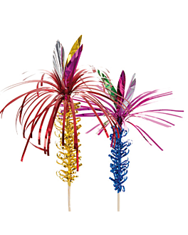 "50 ice cream decoration foil ""palm tree"" 15 cm assorted wood (1 unit)"