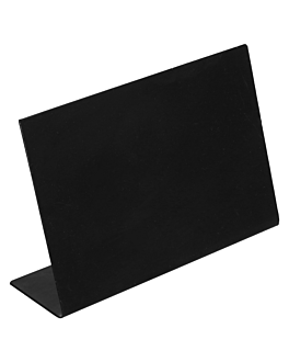 self standing blackboards 10,5x7,3 cm black iron (6 unit)