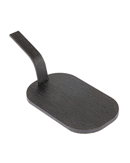 mini palas para tapas 8x5 cm negro bambÚ (100 unid.)