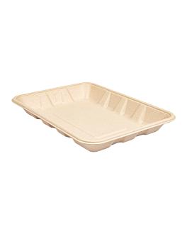 trays 'bionic' 700 ml 23,7x17,3x3 cm natural bagasse (400 unit)