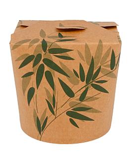 embalagens p/noodles 'feel green' 780 ml 275 + 25peld g/m2 Ø9x9 cm castanho cartolina (50 unidade)