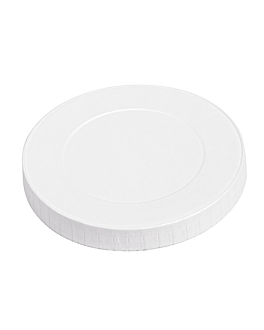 lids for cups 280 gsm + pe Ø 8 cm white cardboard (1000 unit)