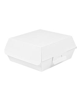 conchas hamburguesa 'thepack' 230 g/m2 17,5x18x7,5 cm blanco cartÓn ondulado nano-micro (300 unid.)