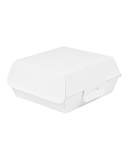 conchas hamburguesa 'thepack' 230 g/m2 17,6x16,8x7,8 cm blanco cartÓn ondulado nano-micro (300 unid.)