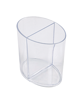 """injected containers """"ellipses"""" 2x60 ml 6,5x4,6x6,5 cm clear ps (500 unit)"""