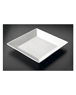square plates 25x25 cm white porcelain (12 unit)