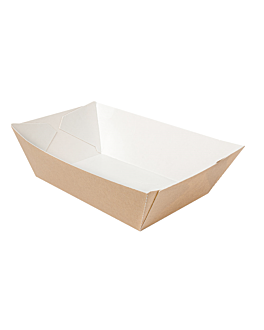 containers 'thepack' 2400 g 220 gsm 17x9,7x6,3 cm natural nano-micro corrugated cardboard (600 unit)