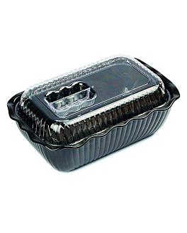 wavy shape containers 2 l 26x17x8 cm black san (1 unit)