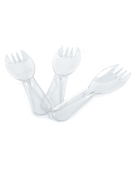 mini forks 9,3 cm clear ps (2500 unit)