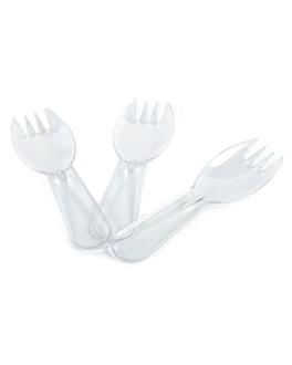 mini tenedores 9,3 cm transparente ps (2500 unid.)