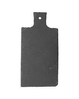 tÁbua apresentaÇÃo retangular 30,5x15,2x0,6 cm natural ardÓsia (6 unidade)