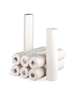 """papier zur liegenabdeckung ecolabel 2-lagig """"ws"""" - 120 blÄtter 19 g/m2 0,65x48 m weiss papiertuch (12 einheit)"""