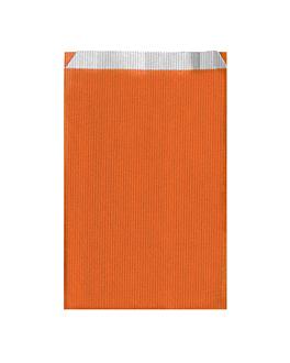 sacchetti piani unicolore 60 g/m2 26+9x46 cm arancio cellulosa (250 unitÀ)