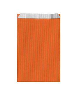 bolsas planas unicolor 60 g/m2 26+9x46 cm naranja celulosa (250 unid.)
