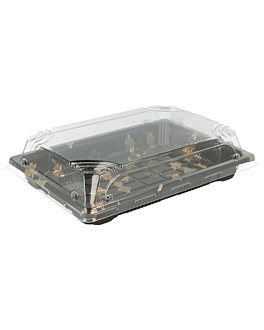 "recipientes para ""sushi"" 18,8x13,3x4,5 cm negro ps (400 unid.)"