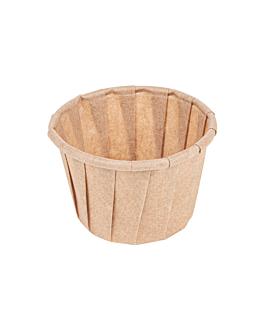 kleiner behÄlter plissiertes papier 30 ml Ø4,2x2,5 cm natur pergament fettabweisend (250 einheit)