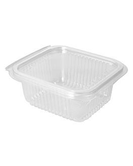 insalatiera con coperchio incernierato 500 ml 13,5x12,5x5,6 cm trasparente pla (600 unitÀ)