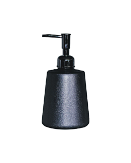 soap dispenser 500 ml 9,5x18 cm black abs (1 unit)