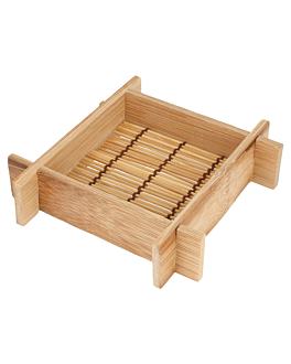 20 mini rÉcipients 12x12x3 cm naturel bambou (1 unitÉ)