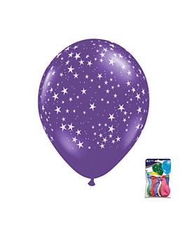 """50 u. globos """"estrellas"""" Ø 29 cm surtido lÁtex (1 unid.)"""